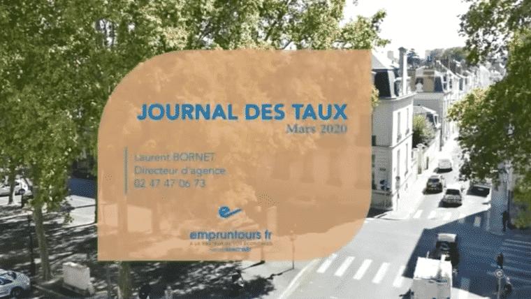 Journal Des Taux de mars 2020